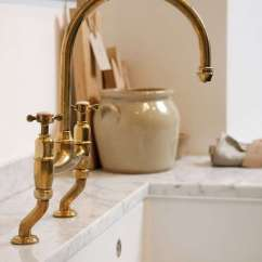 Brass Faucet Kitchen Ceramic Tile Countertops Found The Perfectly Aged Remodelista