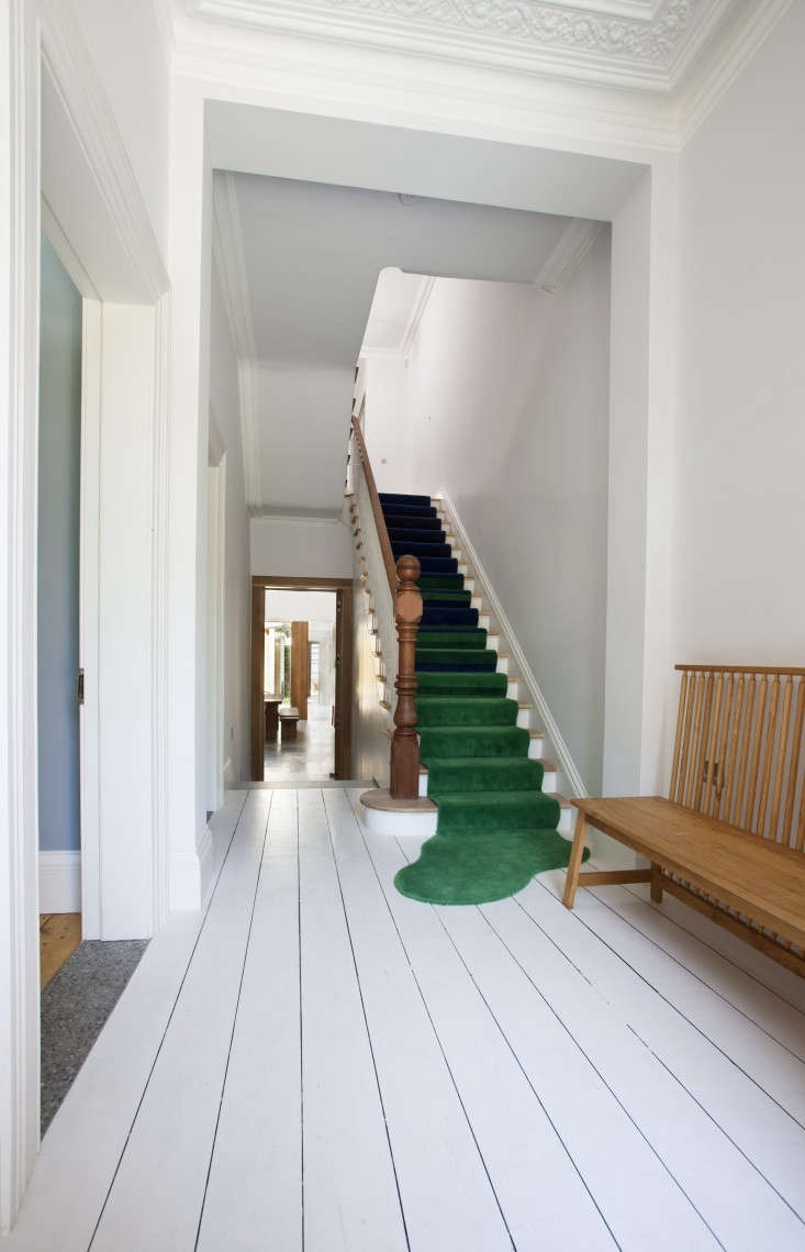 Remodeling 101 All About Stair Runners Remodelista | Square Rug For Stair Landing | Area Rugs | Stair Treads | Handrail | Flooring | Mat