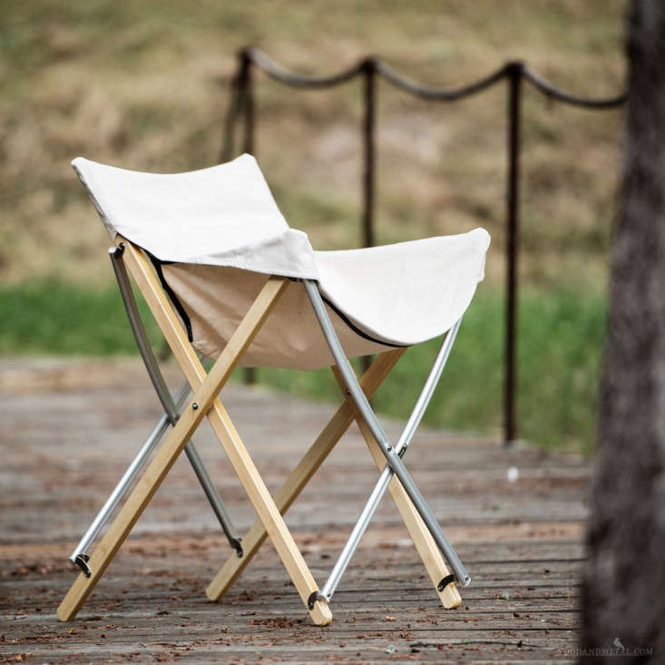 wood camp chair desk combo 9 folding stools for parade watching remodelista
