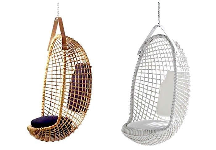 hanging wicker chair tub accent 10 easy pieces rattan chairs remodelista above another midcentury design the eureka by giovanni travasa is still being handmade in italy and finished with a leather strap