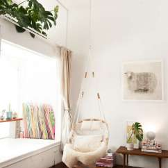 Hanging Rattan Chair Ivory Spandex Folding Covers 10 Easy Pieces Chairs Remodelista Above The Original Cobble Mountain Is Handmade In Vermont And Has A Bentwood Frame Of Locally Harvested Oak 265 Price Includes Two Cushions