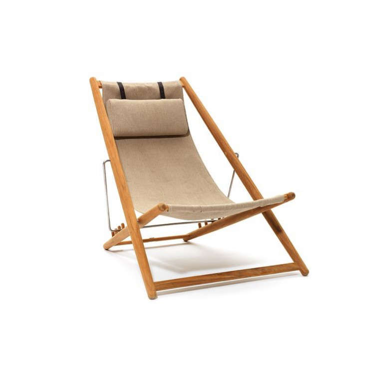 deck chair images types of folding chairs 5 favorites the best canvas remodelista above h55 teak lounger designed in 1955 by bjorn hulten is available black navy blue or white sunbrella fabric natural
