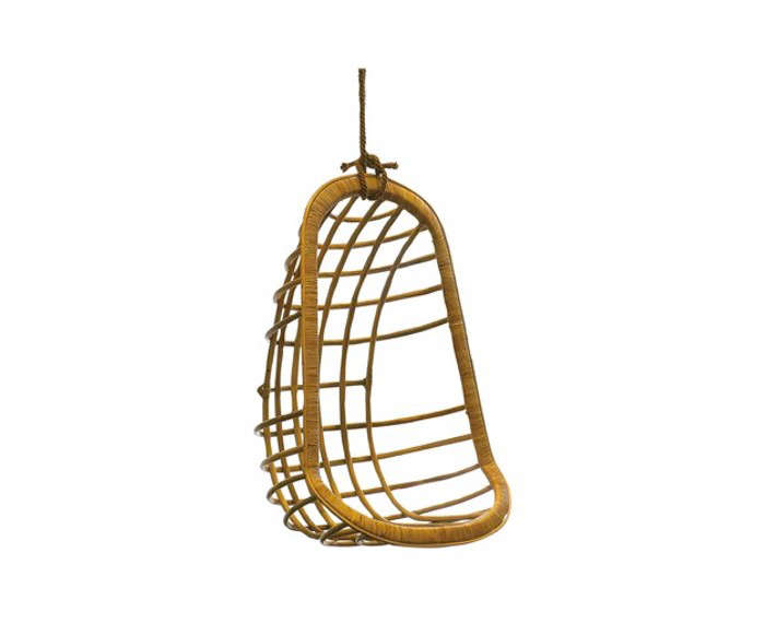 hanging rattan chair how to make easy covers for wedding 10 pieces chairs remodelista