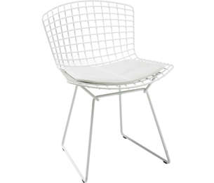 bertoia side chair woven rocking with seat pad