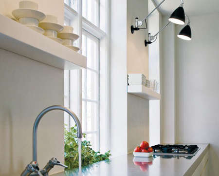 kitchen wall lights cabinet liner light roundup remodelista above a in scandinavia featuring pair of black bl6 bestlite 599 at unica home