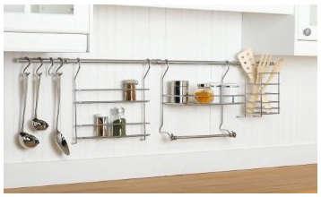 kitchen organizer wooden island rail system closetmaid hanging jpg