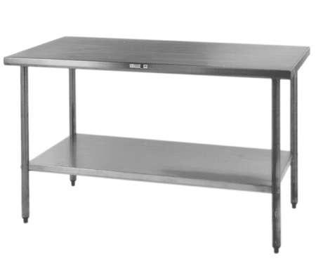 steel kitchen table macys aid economy stainless island work