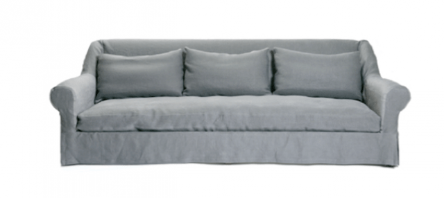 belgian linen sofa right corner 10 easy pieces slipcovered sofas remodelista above the lucca in belgium is made to order 14 500 from co