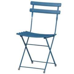 Blue Metal Folding Chairs Light Dining Uk 10 Easy Pieces Outdoor Remodelista Above A Pronto Chair Is 99 From Crate Barrel