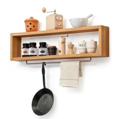 Kitchen Shelf Average Cabinet Cost Diy Wooden With Rail Remodelista