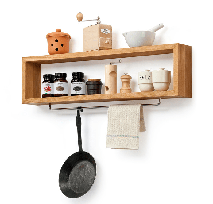 wood shelves kitchen childrens wooden play diy shelf with rail remodelista