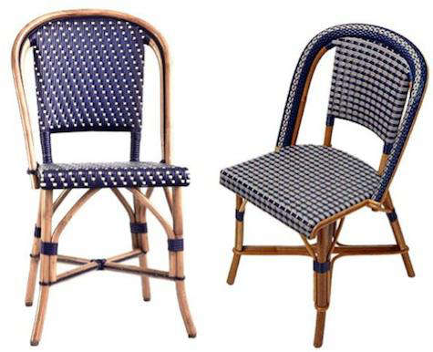 cafe rattan french bistro chairs chair covers at wedding reception design sleuth classic remodelista above l the brasserie in natural frame with polyethylene woven seat and back is 266 from american country home store