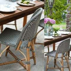 French Rattan Bistro Chairs Outdoor Aluminum Design Sleuth Classic Remodelista