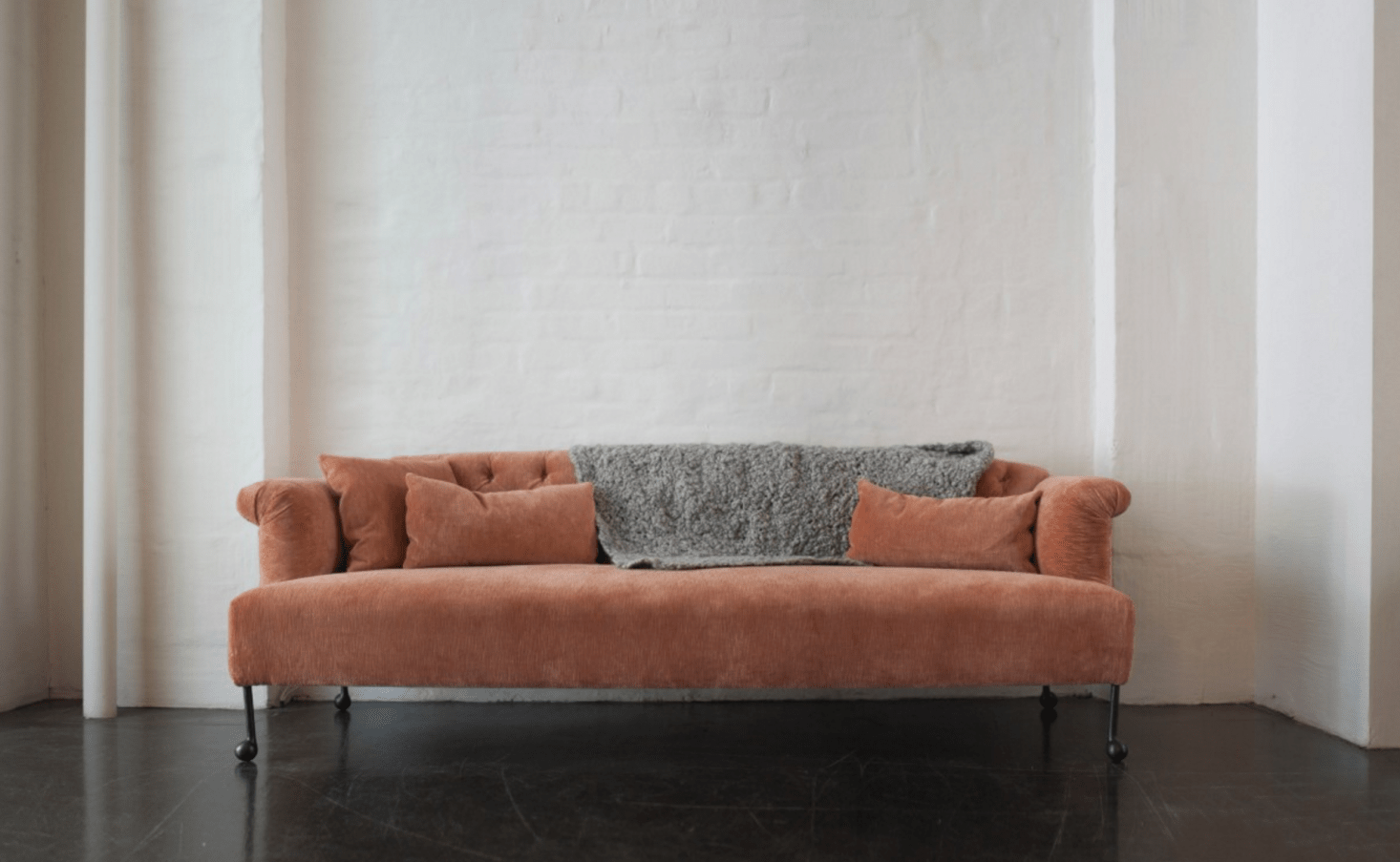 pink sofa browse uk signature design by ashley tallow earth 10 easy pieces the remodelista bddw edmund