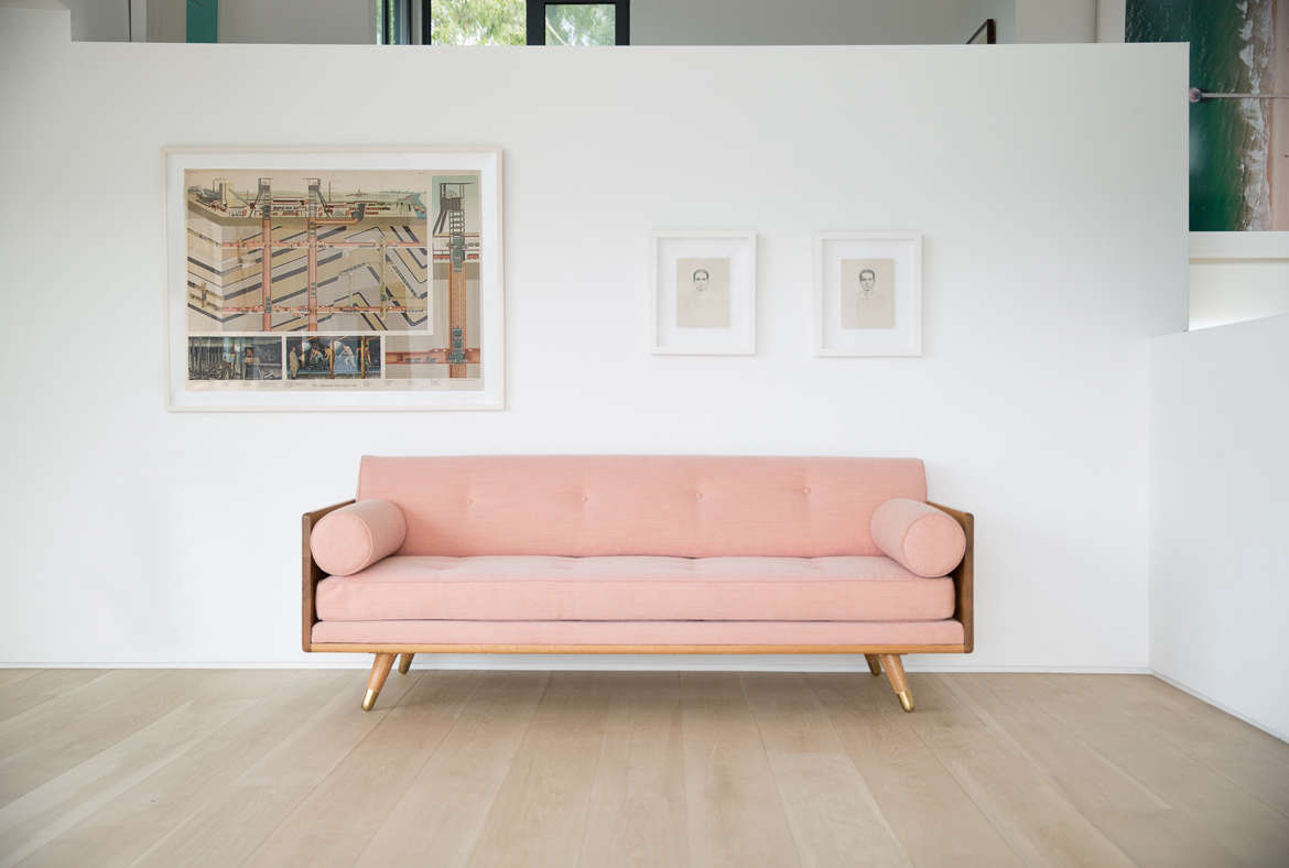 pink sofas green leather sofa and chair 10 easy pieces the remodelista kalon studios no 5 series