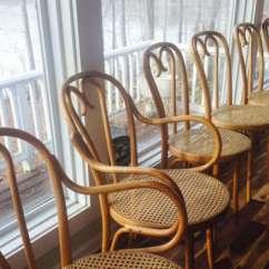 Vintage Bentwood Chairs Children S White Wooden Rocking Chair Thonet Cane Arm Pair