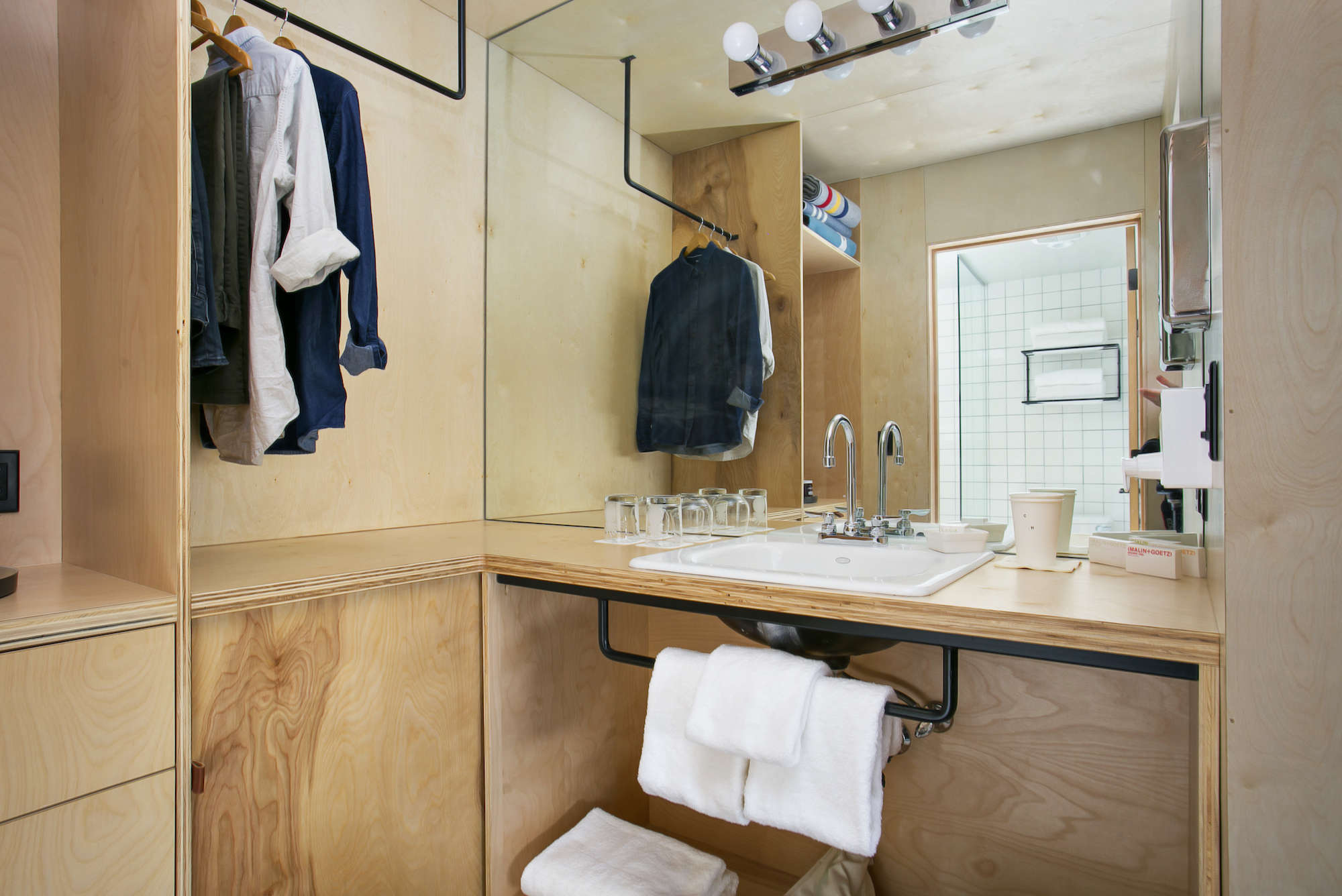 Bathroom of the Week An Economical Plywood Bath in Tahoe