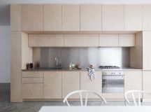 Birch Plywood Kitchen and Stairs Clean-Lined London ...