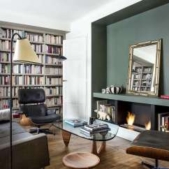 Living Room Small Apartment Nautical Decorations For 9 Space Ideas To Steal From A Tiny Paris The Furnishings Owner Requested Modernist Icons Including Noguchi Coffee Table