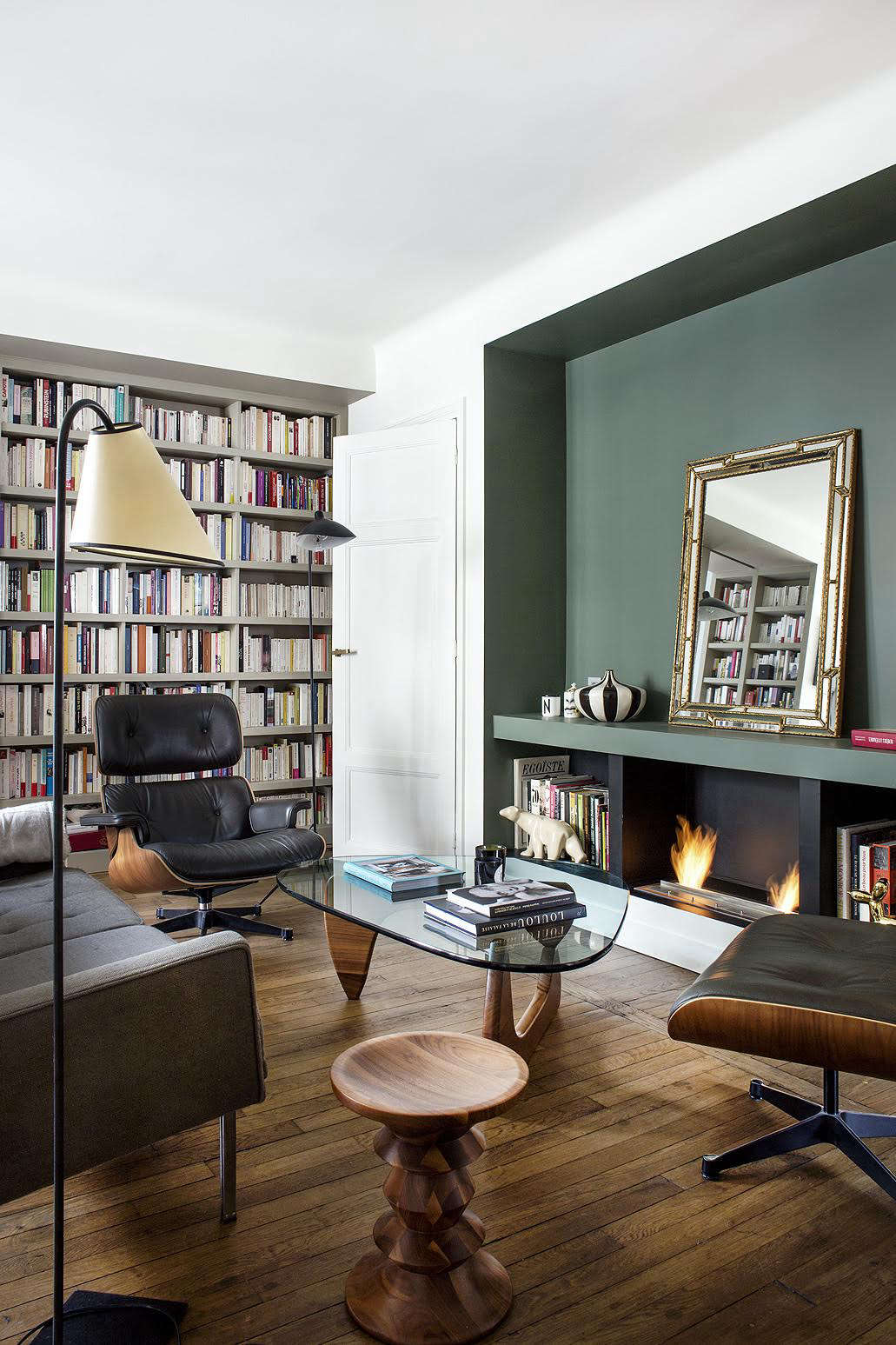 ideas for small apartment living room design a bare wall 9 space to steal from tiny paris choose versatile furniture pieces the furnishings owner requested modernist icons including noguchi coffee table