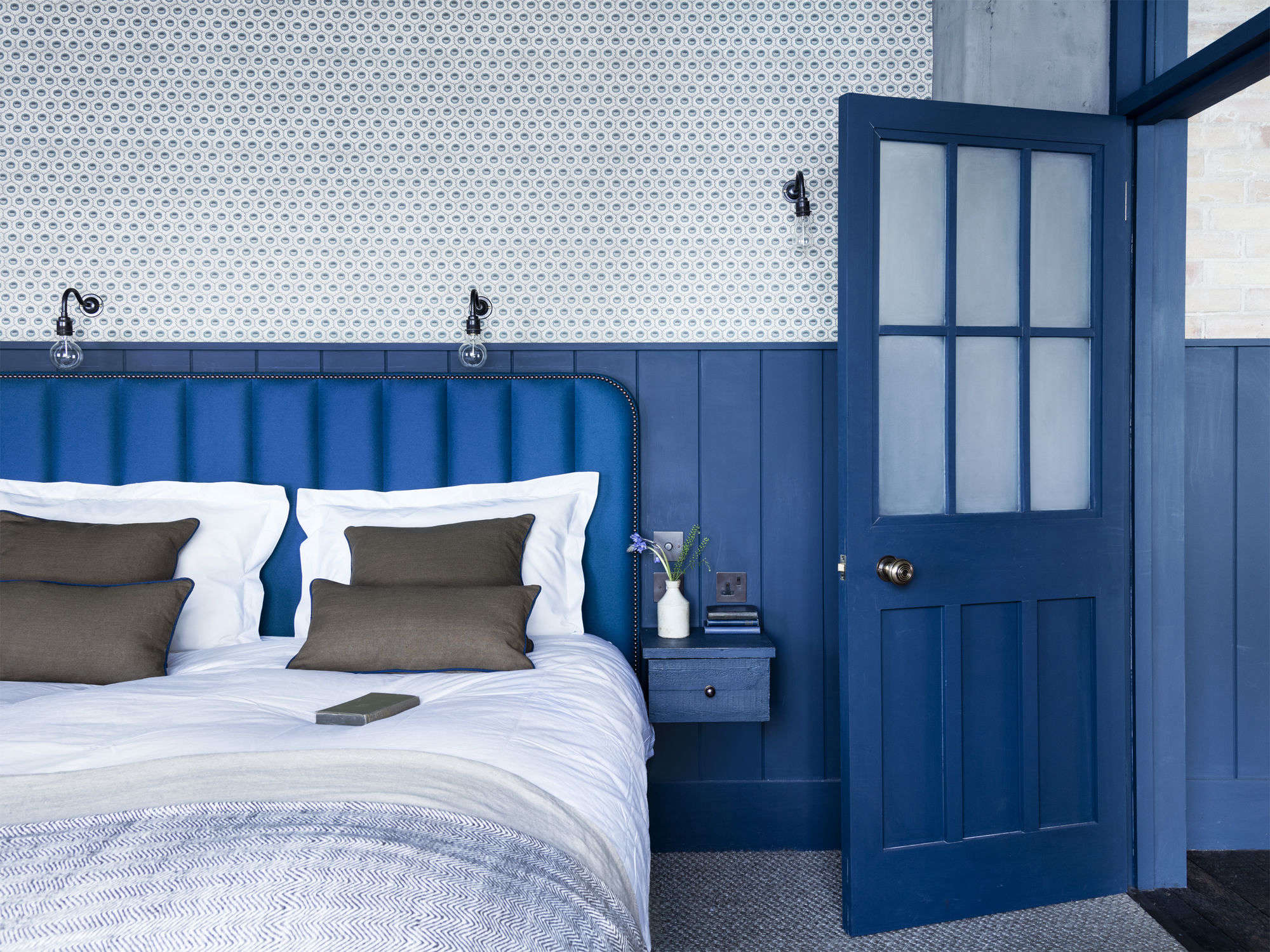 Steal This Look A Bright Blue Bedroom in a London Loft
