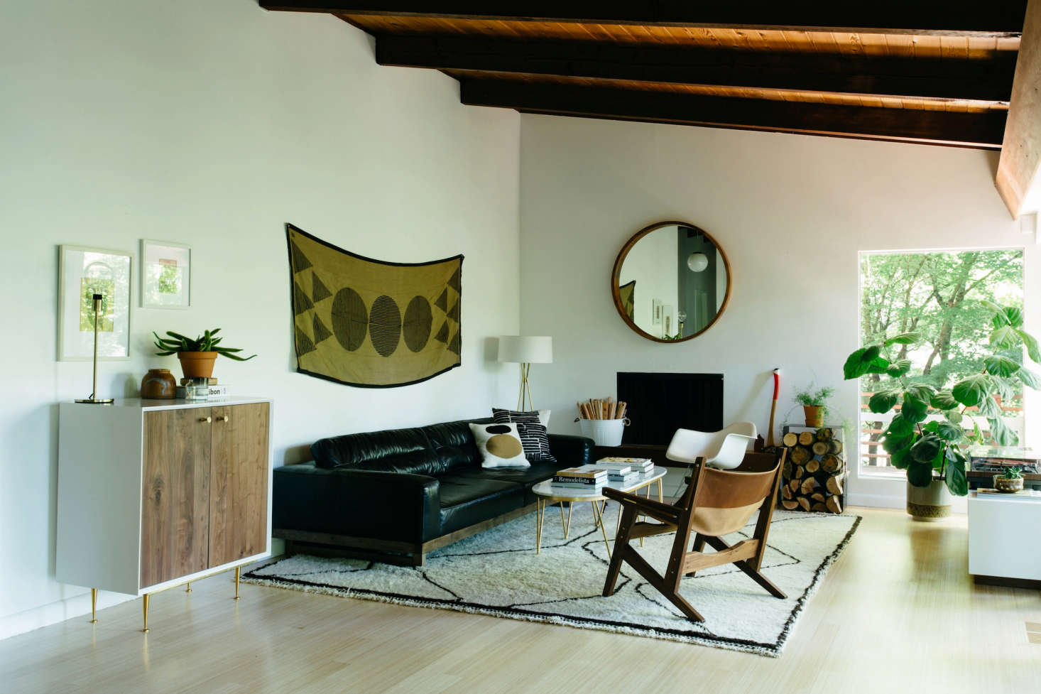 modern look living room designs with green carpet steal this midcentury in portland oregon a large open space is split between the dining not pictured here and