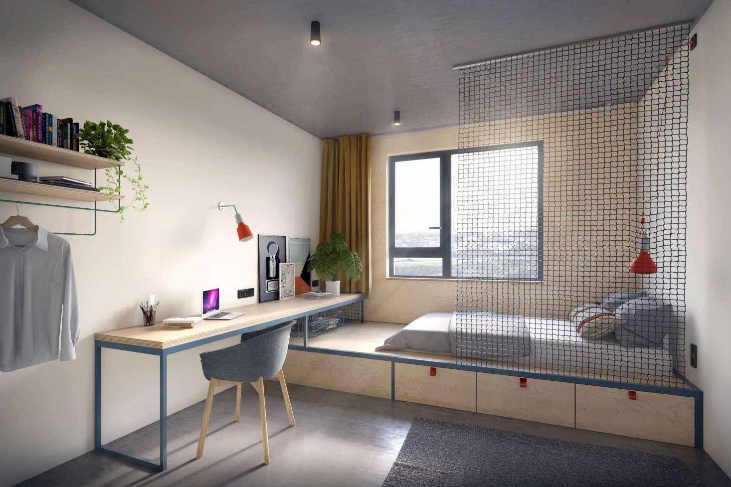 Designer dorm rooms stylish student housing and hostel