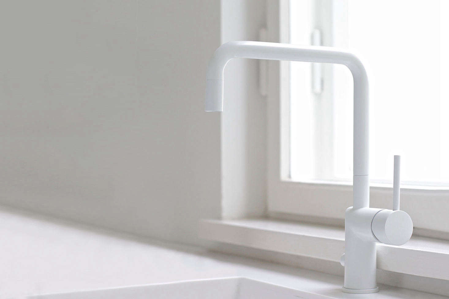 white kitchen faucet 10 easy pieces modern matte faucets remodelista vola s kv1 one handle mixer is available in and designed for the