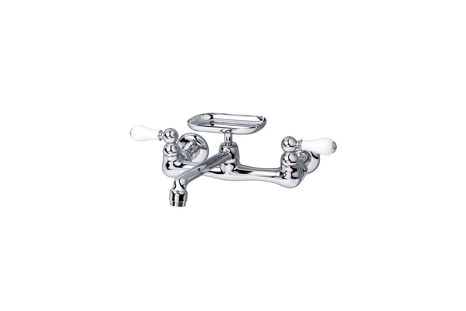 American Standard Heritage Wall-Mount Faucet with Soap Dish