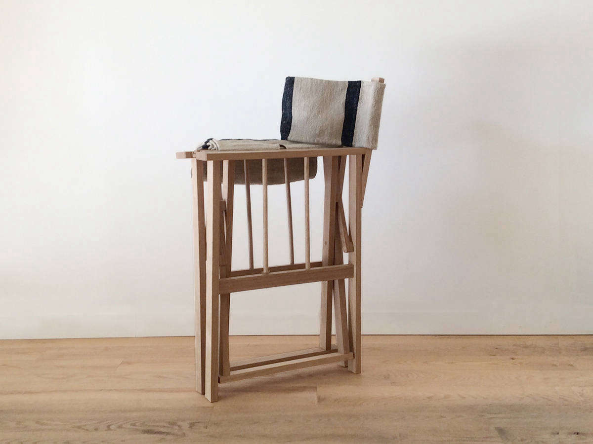 striped directors chairs chair massage accessories object of desire director s with vintage grain sack the can be folded for easy storage
