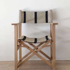 Striped Directors Chairs Chair And Ottoman Covers Amazon Object Of Desire Director S With Vintage Grain Sack The Navy Stripe Is 950