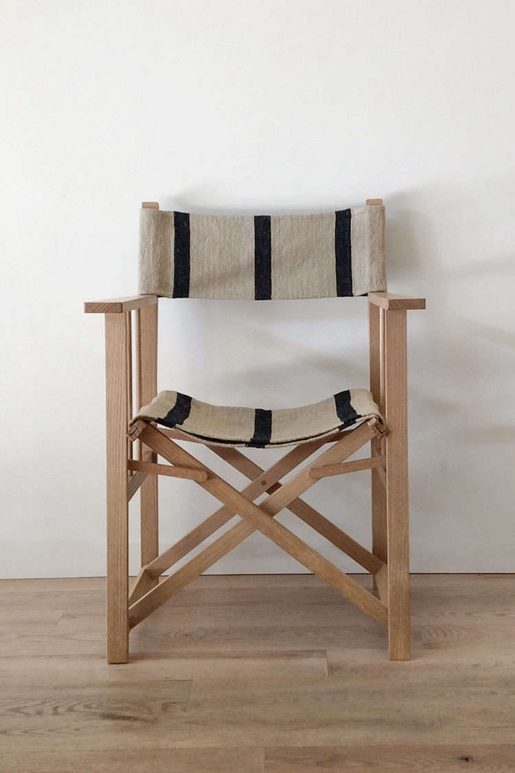 Grain Sack Chair Object Of Desire Director S Chairs With Striped Vintage Grain