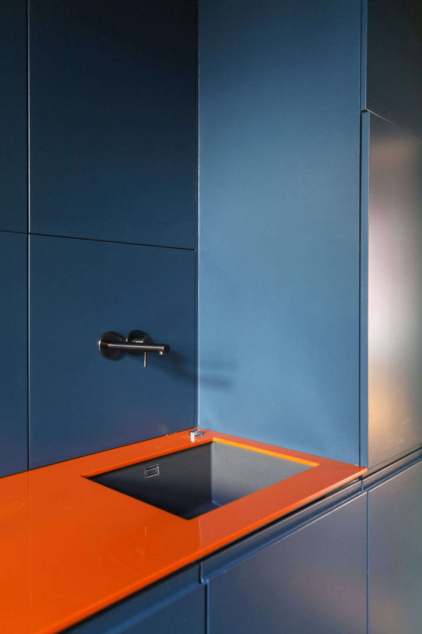 Kitchen of the Week A Forgotten Kitchen in Frankfurt Germany Gets a Colorful Overhaul