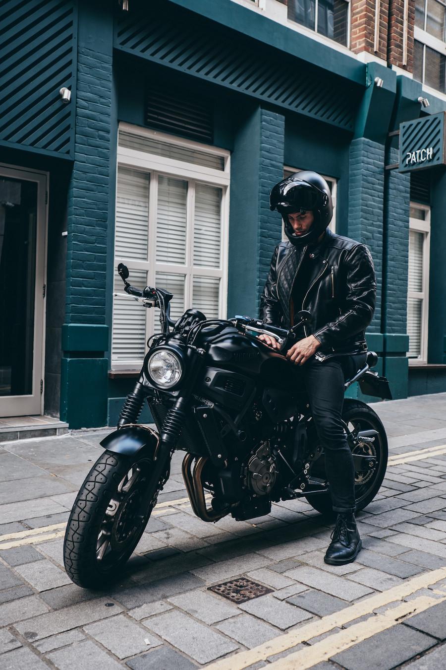 Goldtop Bobber Black Leather Jacket