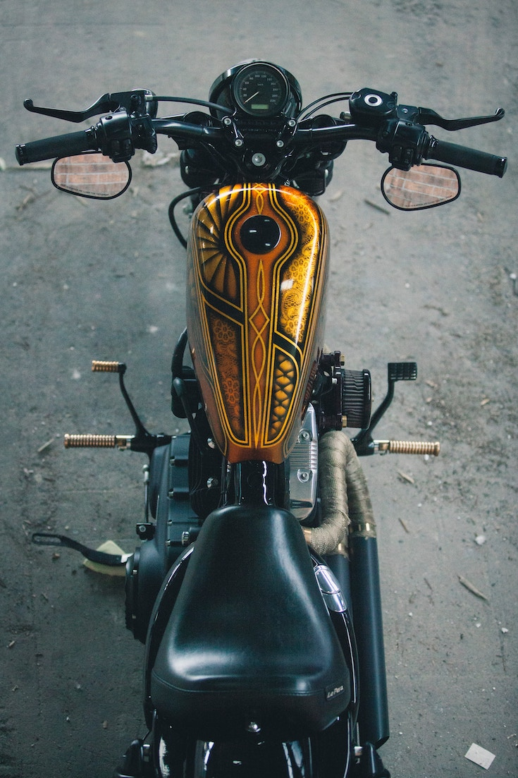 Harley Custom Build Custom Tank Revolt