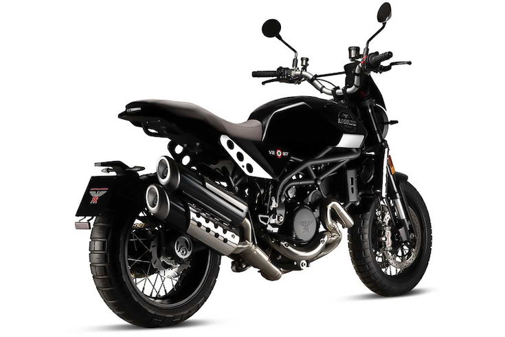 Moto Morini Super Scrambler rear view