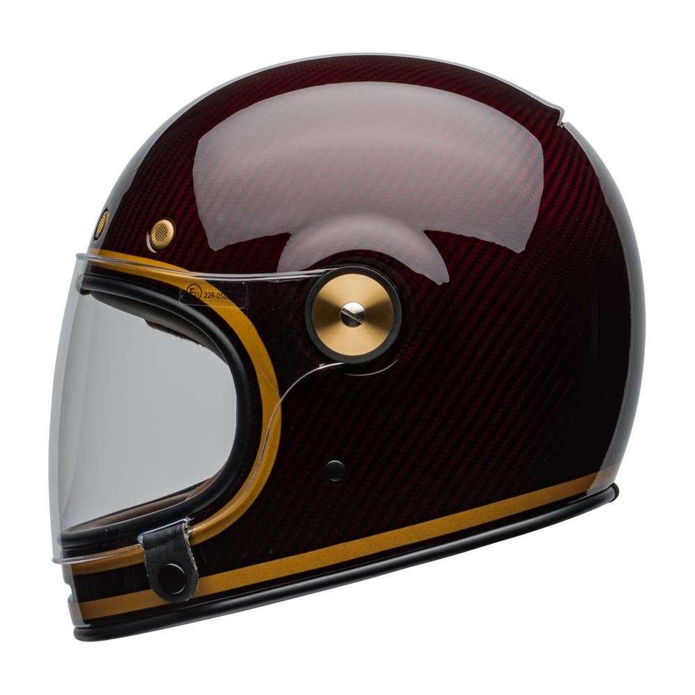 Bullitt Carbon Helmet Transcend Gloss Candy Red Gold [clear-shield-left]