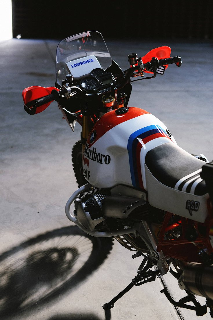 Roland Sands Dakar G/S eft-side tank and instruments
