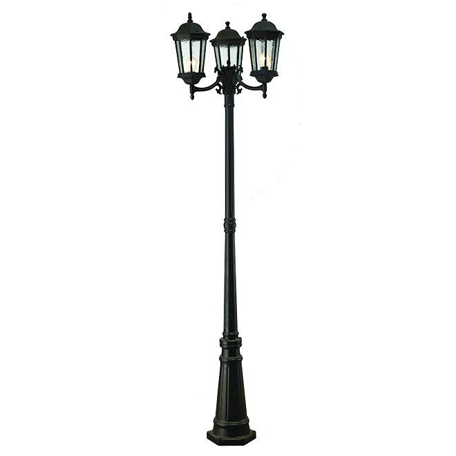 UBERHAUS Lampadaire extrieur 3 ttes A143POST  RnoDpt