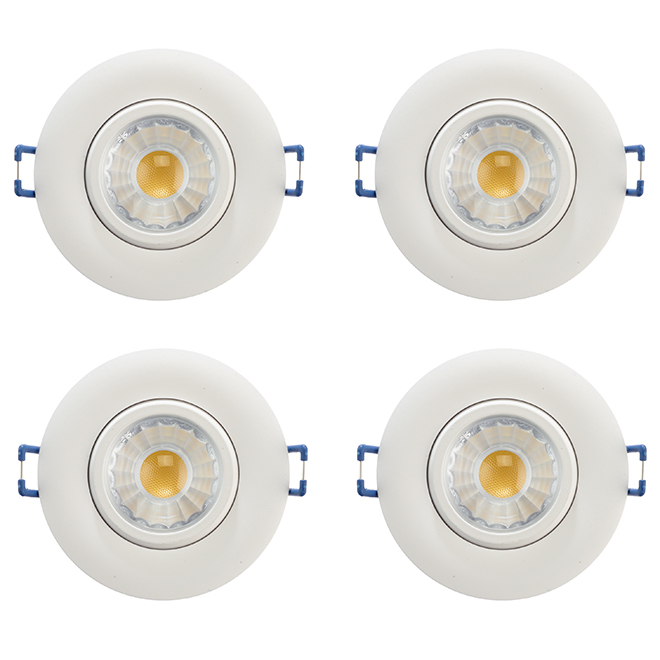 set of 4 led recessed lights trenz 7 5 w 3 white
