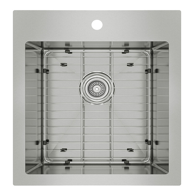 kitchen sink capacity 2x3 rug odyssey stainless steel single ss2020r10 dy reno depot