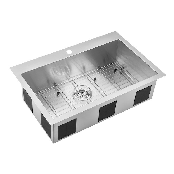 kitchen sink capacity cabinet crown molding odyssey stainless steel single 31 25 x 20 ss3120t20 dy reno depot