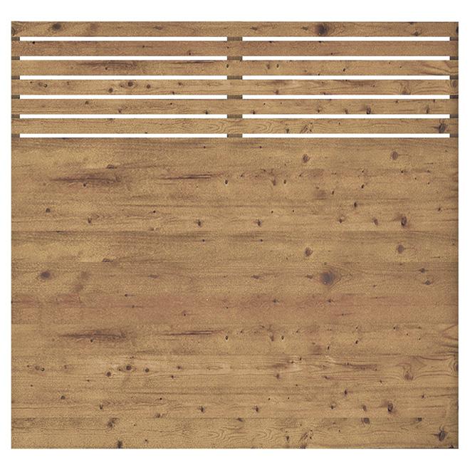 panneau de cloture 6 x 6 contemporain bois traite brun