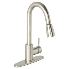 Pull Out Kitchen Faucets Ceiling Lighting Fixtures Essential Style Down Faucet Urbania Brushed Nickel