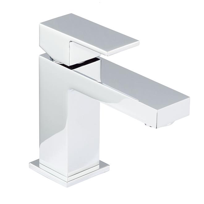 robinet de salle de bains a 1 poignee quadrato chrome poli