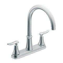 Two Handle Kitchen Faucet Islands Portable Moen Quinn 2 87847 Reno Depot