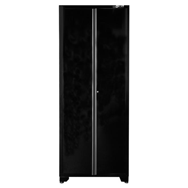 PROSLAT 2Door Tall Cabinet 18 x 32 x 82  Gloss Black