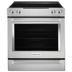 Kitchen Aid Stove Renovations Ideas Kitchenaid Electric Range With Even Heat Tm 30 6 4 Cu Ft