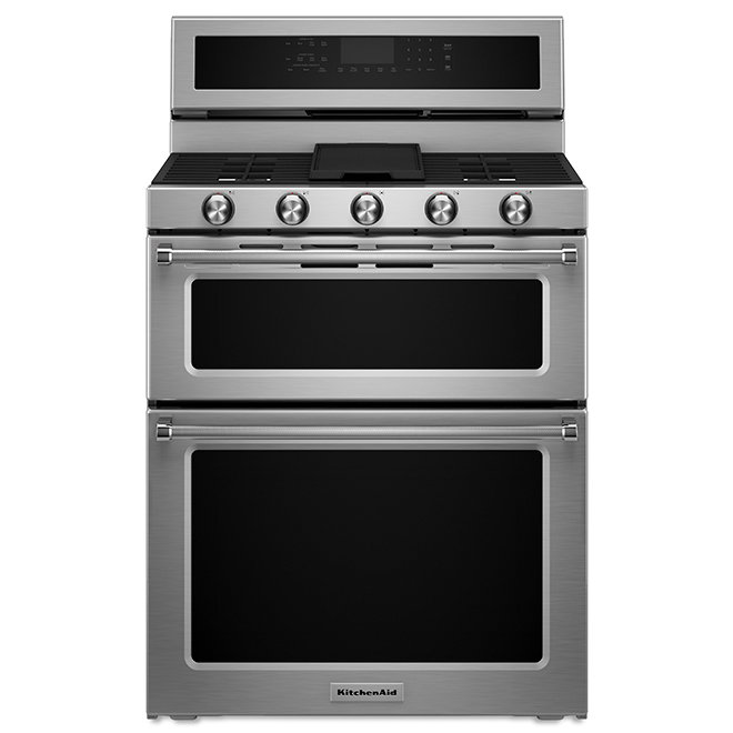 kitchen ranges gas buy used cabinets kitchenaid dual fuel double oven convection range 6 7 cu ft