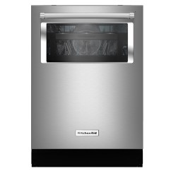Kitchen Aide Dishwasher Cabinets Organizer Kitchenaid With Dynamic Arms And Window Stainless Steel Kdtm804ess Reno Depot